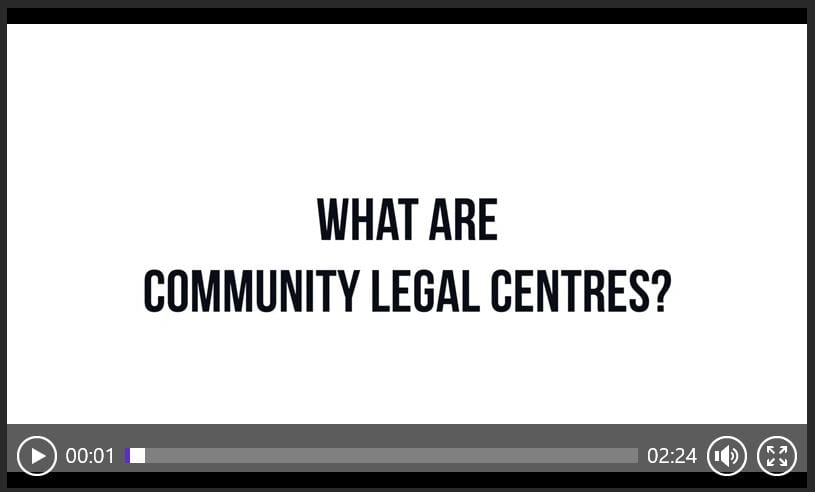 Watch our quick video on what Community Legal Centres do